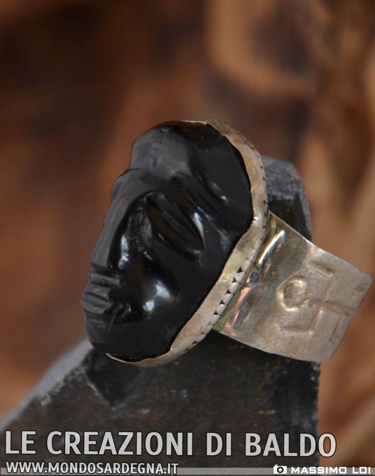 anello in ossidiana