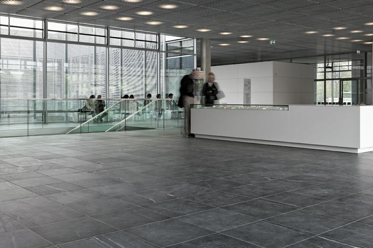 Slate flooring is ideal for high-traffic environments