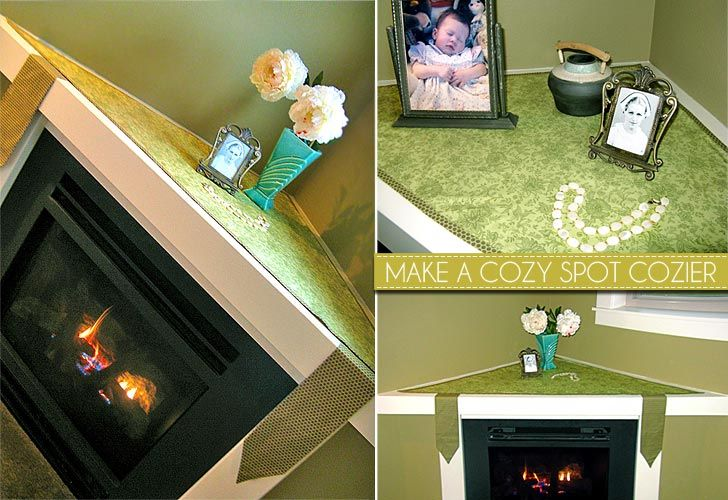 """Liz's """"Blissful"""" Triangle Mantle Cloth       I could use this for my large corner mantle."""