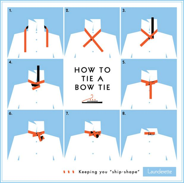 handy instructions on how to tie a bowtie~  thanks to @greylikes for sharing!