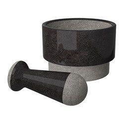 IKEA - ÄDELSTEN, Mortel med stöt, Av hård marmor så att kryddorna stöts effektivt.Du kan använda två olika sidor att stöta kryddor eftersom morteln är vändbar.