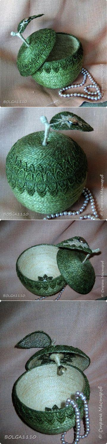 Шпагатная яблоко-шкатулка . | Страна Мастеров