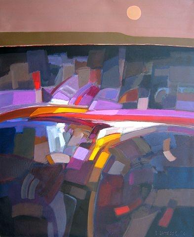 Paisage al Atardecer  acrylic on canvas  47 x 40