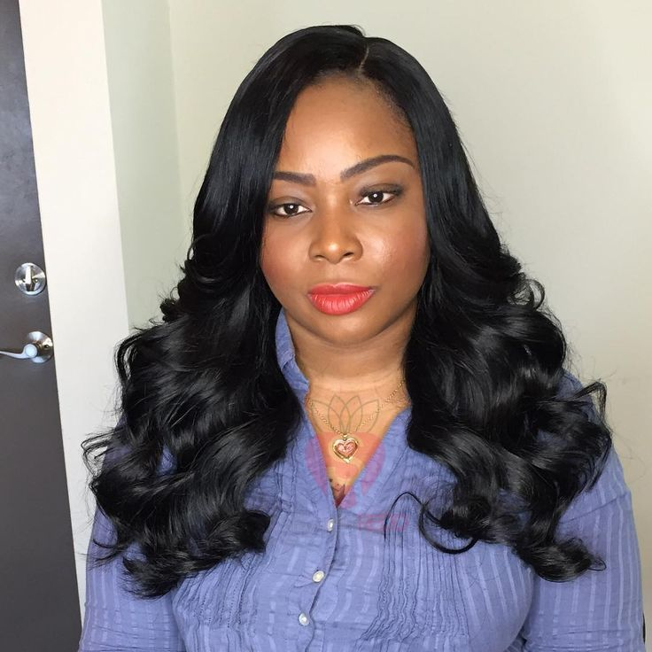 """""""Full sew in with a closure!!! Client used old hair from ..."""