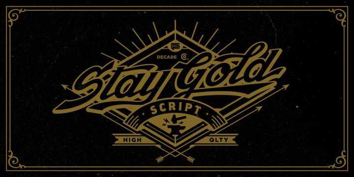 Stay Gold (NEW font) - http://fontsdiscounts.com/stay-gold-new-font/