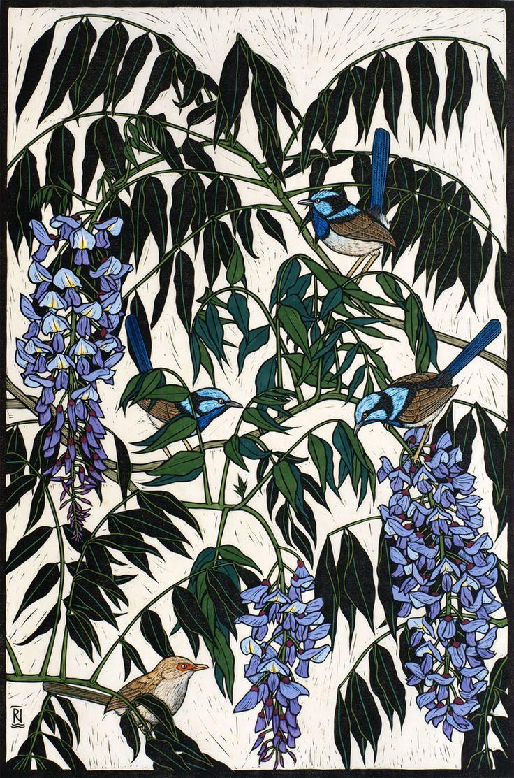 Linocut  by Rachel Newling