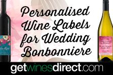 our personalised labels are just $1 per bottle #wedding #weddingfavours #bonbonnaire #wineonline #getwinesdirect