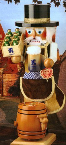 Signed Steinbach Musical Brewmaster Beer Lover German Christmas Nutcracker