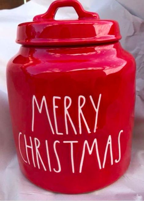 Rae Dunn Merry Christmas Canister Diso Rae Dunn