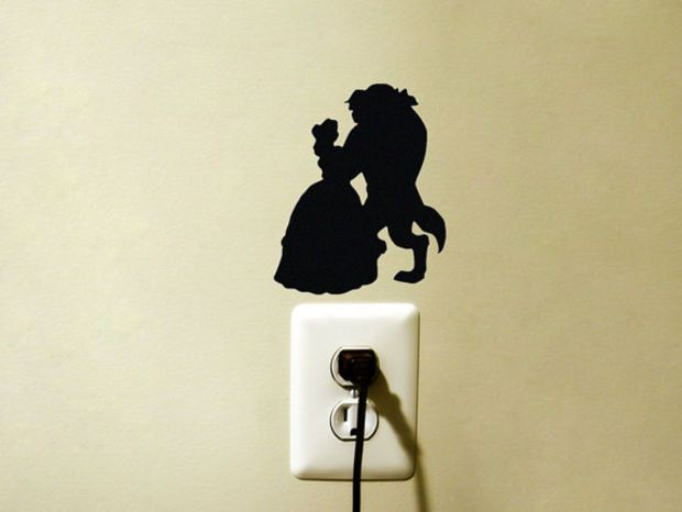 Black Princess Wall Decor : Ideas about disney wall decals on