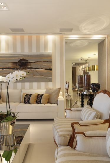 Beautiful beige living room