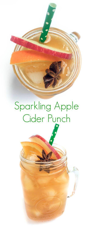 Sparkling Apple Cider Punch - The Lemon Bowl
