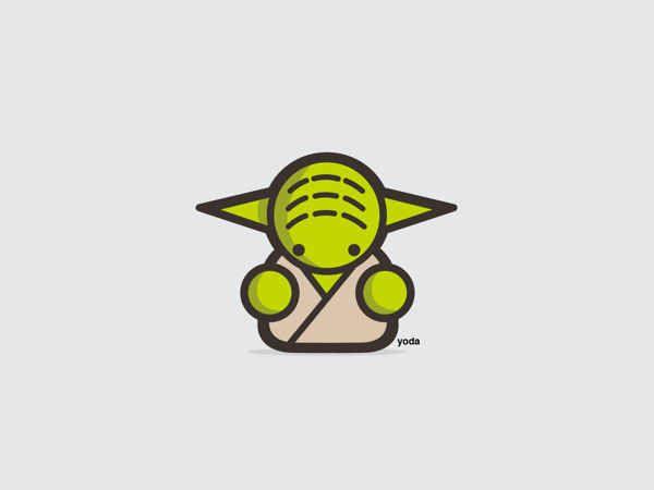 Yoda | 9 Insanely Cute 'Star Wars' Illustrations