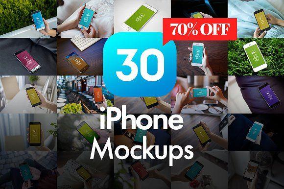 30 iPhone Mockups by Fomochkin's Shop on @creativemarket