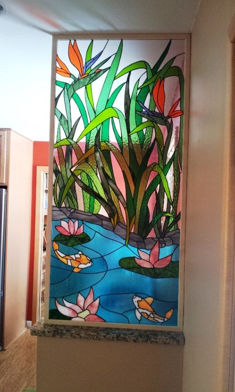 Stained glass Panel Asian Paradise P-34 by TerrazaStainedGlass