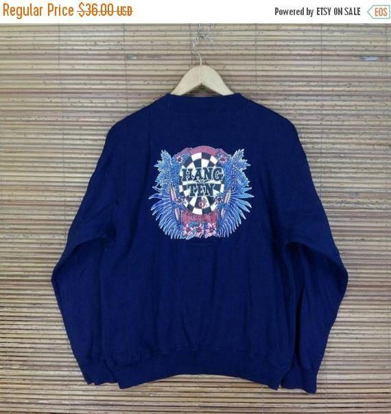 HANG TEN USA Sweatshirt Medium Vintage 80's Hang Ten
