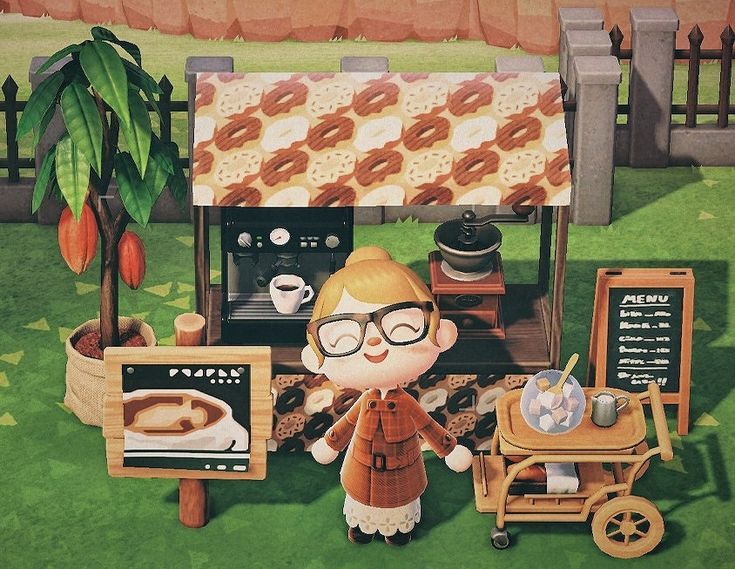 Outdoor cafe in 2020 animal crossing coffee animal