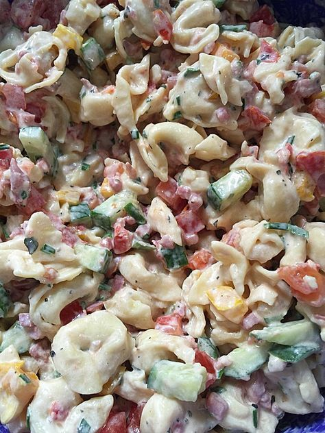 Tortellini - Salat mit Tomaten und Schinken, ein sehr leckeres Rezept aus der Kategorie Reis/Nudeln/Getreide. Bewertungen: 59. Durchschnitt: Ø 4,5.