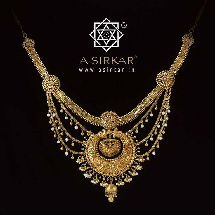 Kakoli : In this case we effected a reverse customization in that the necklace had to be matched to our Naksha Kanbala without in any way dulling the effect of those earrings.   We combined styles : a pati har on top ; a three strand shelly around the sides ; a full Naksha Kanbala holding centre stage ; three padma roundels on raised frames to hold all this in place.   Handcrafted in natural yellow 22K gold, an eclectic aristocratic jewel guaranteed to set the birds singing.