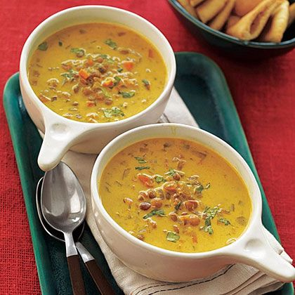 Curried Lentil Soup | Full of bold flavor and chockful of veggies, Curried Lentil Soup makes a great choice for a meatless lunch or dinner.