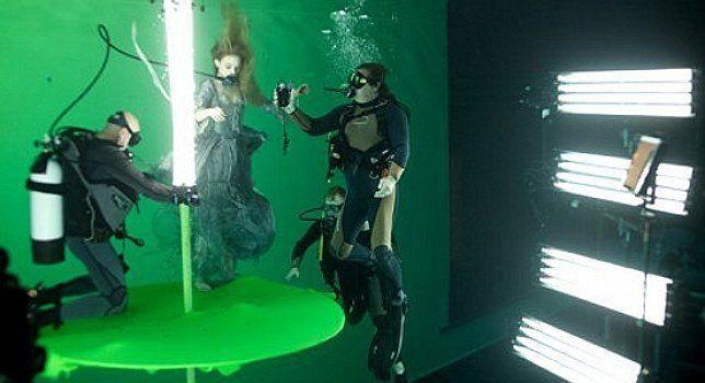 Underwater Scene at the Pinewood Studio Set, Dark Shadows
