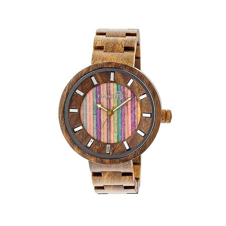 Earth Wood Goods Watches Earth Wood Root Skateboard Dial Green Wood Bracelet Watch