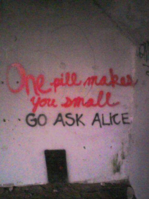 alice in wonderland quotes | ... alice in wonderland grafitti street art small door alice abandoned