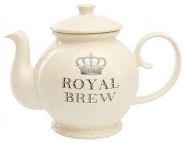 Majestic Cream Royal Brew Teapot - contemporary - coffee makers and tea kettles - other metro - Kitchens