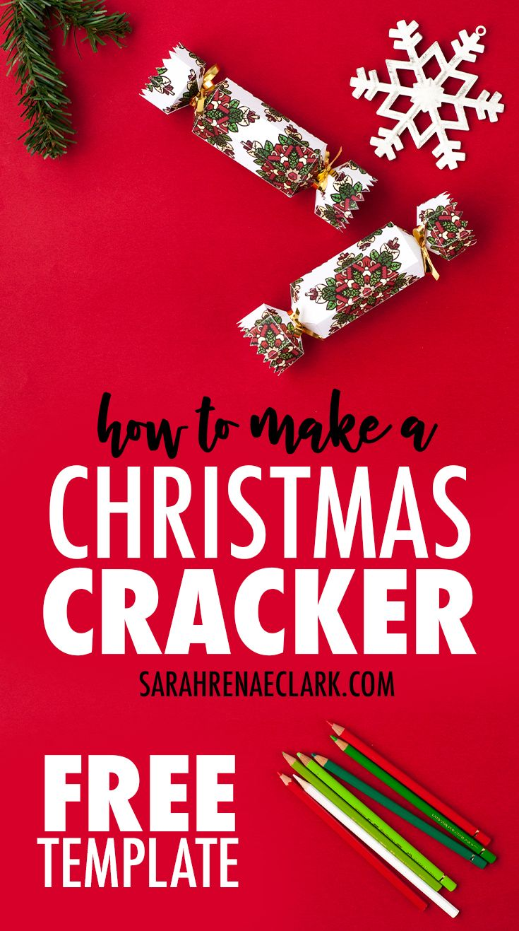 How To Make A Christmas Cracker Free Printable Template And Tutorial For A Diy Christmas Cracker With A Coloring Page Twist Diy Christmas Crackers Christmas Crackers Printable Crafts