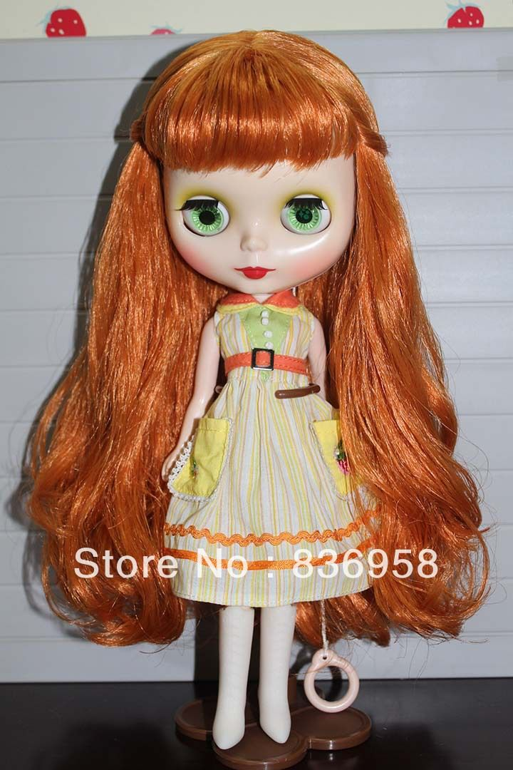 Bangs Bronzer Curly Hair Nude Blythe Doll $60.80