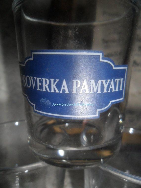 Vodka Shot Glasses  Polish  Found In France by GlassEyedGoblin, €9.00