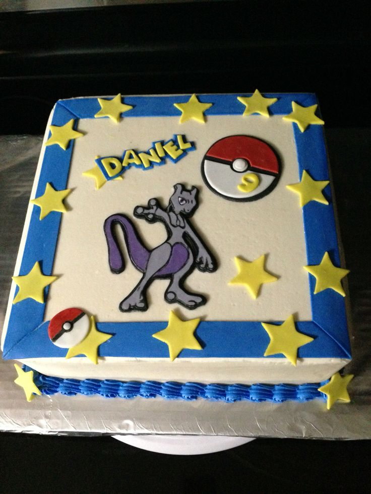 Pokemon Mew Too Birthday Cake My Cakes Pinterest