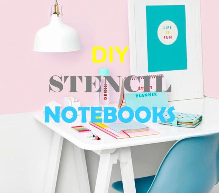 DIY stencil notebooks ♡