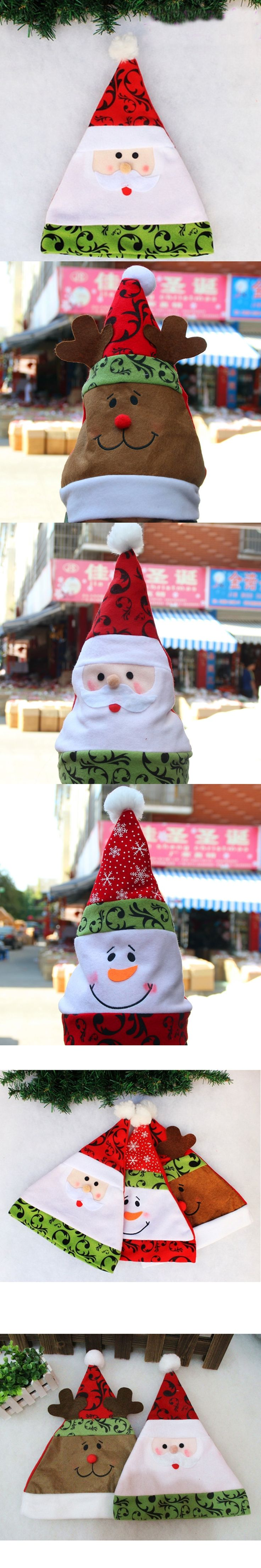 Children Christmas Hats Cute Santa Claus Snowman Elk Decoration Hat Pretty Kids Boys Girls New Year Gifts Holiday Party Props