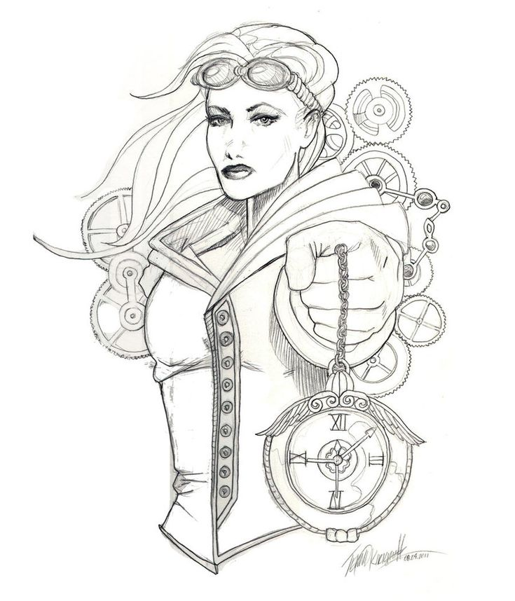 punk coloring pages - steampunk girls coloring pages for adults adult coloring