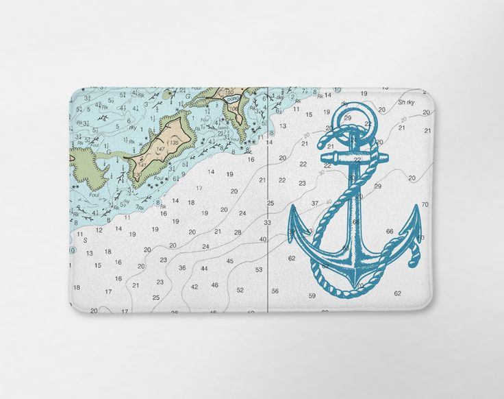 Anchor Map Bath Mat