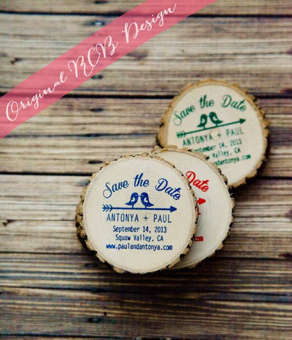 Wooden save the date magnets in Australia