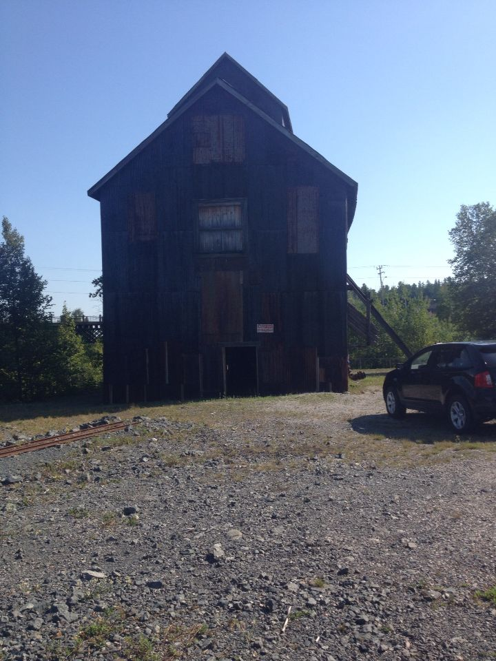 Head Frame that you go into when going on the Cobalt Mining Museum tour.