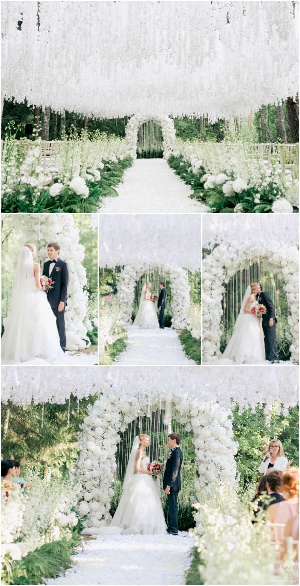 15 Dreamy Wedding Ceremony Ideas For A Fairytale Affair All White And Greenery Wedding Ais White Wedding Ceremony Wedding Ceremony Ideas Aisle Dreamy Wedding