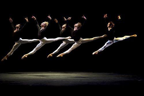 Guillaume Côté (National Ballet of Canada), Marcelo Gomes (American Ballet Theatre), David Hallberg (ABT and Bolshoi Ballet), Denis Matvienko (Mariinsky Ballet), and Ivan Vasiliev (Mikhailovsky Ballet)  Their Majesties  Photo by Gene Schiavone