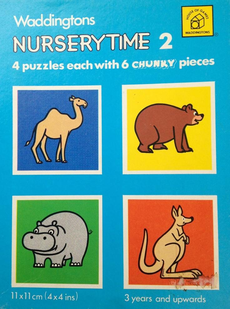 1977 Waddingtons NurseryTimes puzzles
