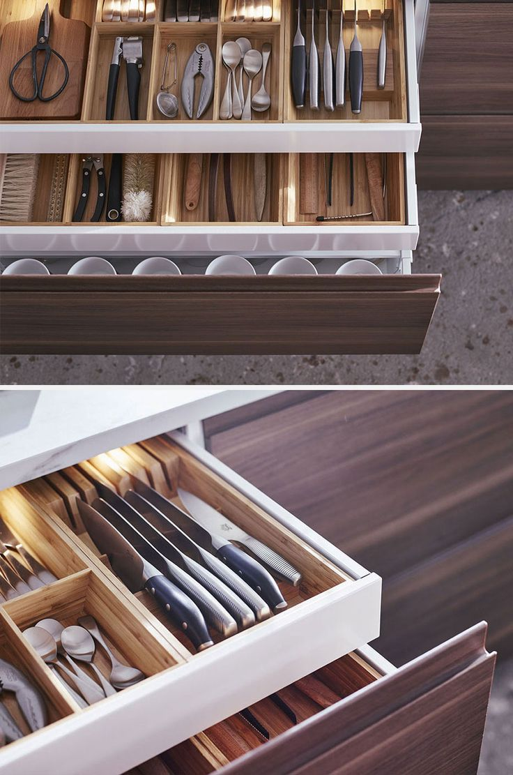 Divisori per cassetti cucina idee per la casa - Portaposate per cassetti ...
