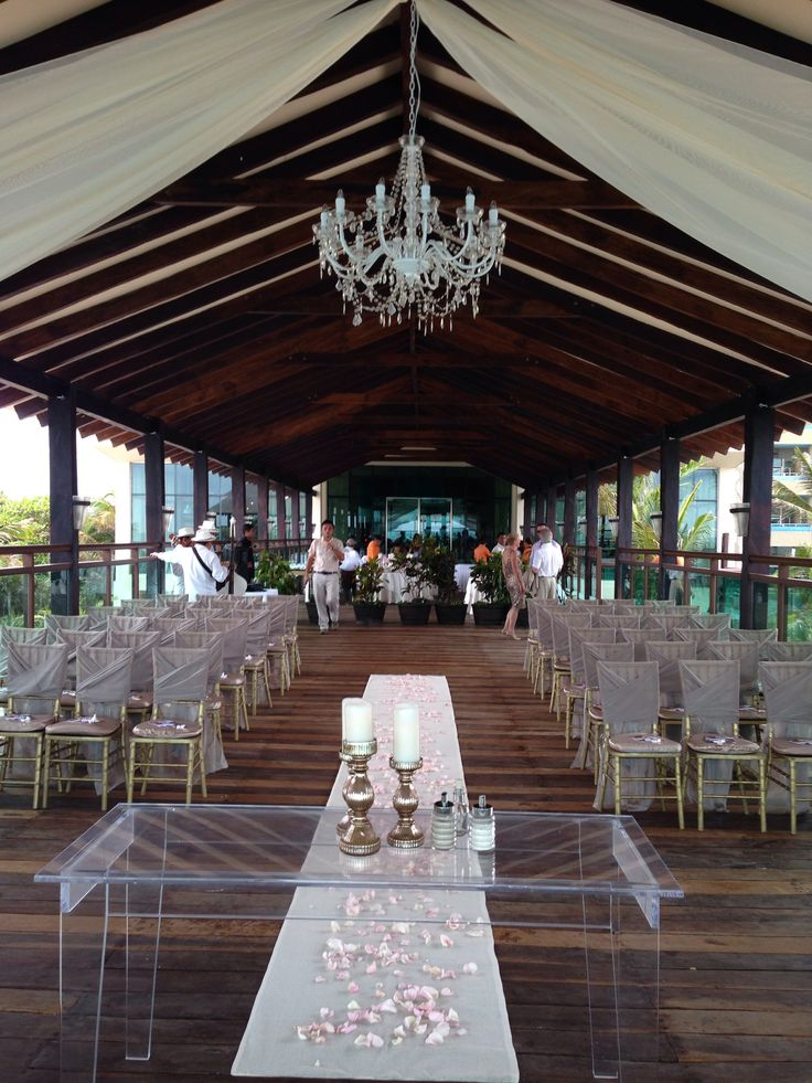 Pier Off Of The Market Restaurant At Generations Maya Riviera Ready For A Ceremony May 3 Wedding DestinationsDestination