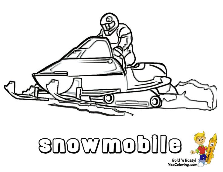 Ski Doo Snowmobile Coloring Pages Coloring Pages Sports Coloring Pages Coloring Pages For Kids