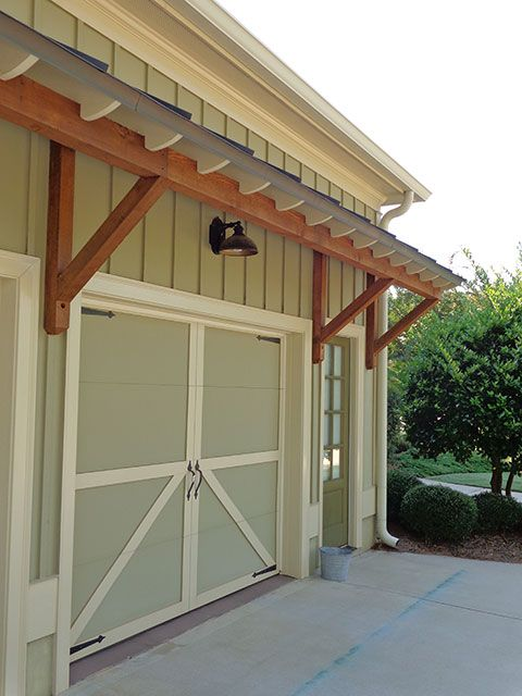 20 best cabin garage images on pinterest contemporary for Garage overhang