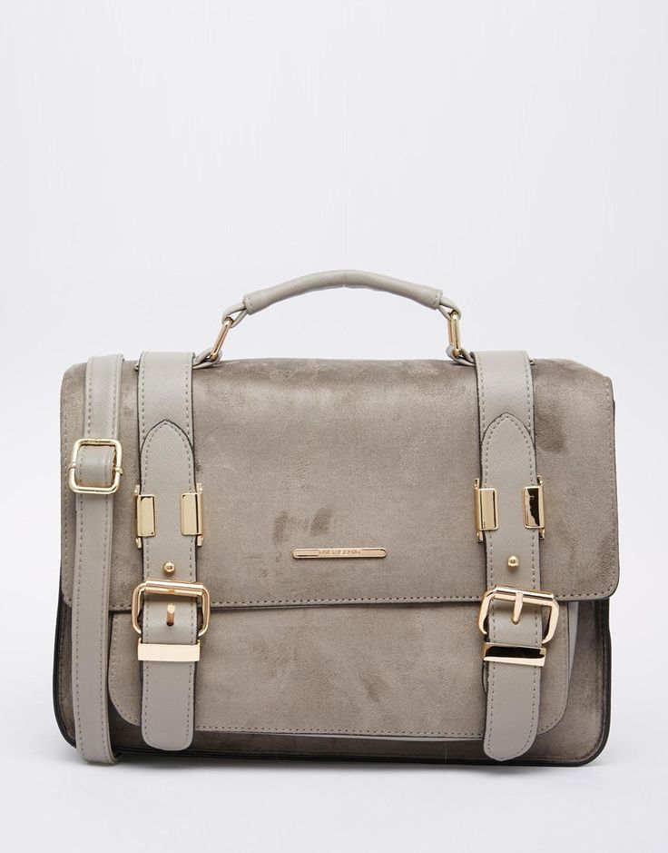 Image 1 of River Island Suedette Satchel in Grey
