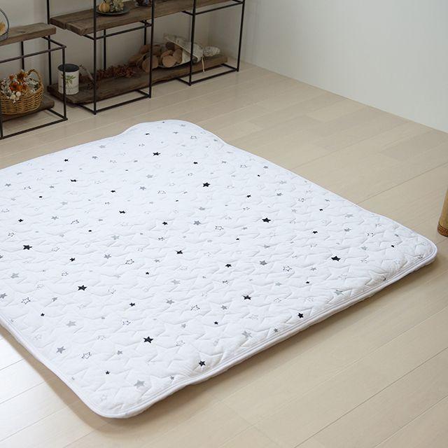ごろ寝マット ベビープレイマット 洗える専用敷きパッド付き トゥイ Rakutenichiba 楽天 ベビールーム 敷きパッド 星柄
