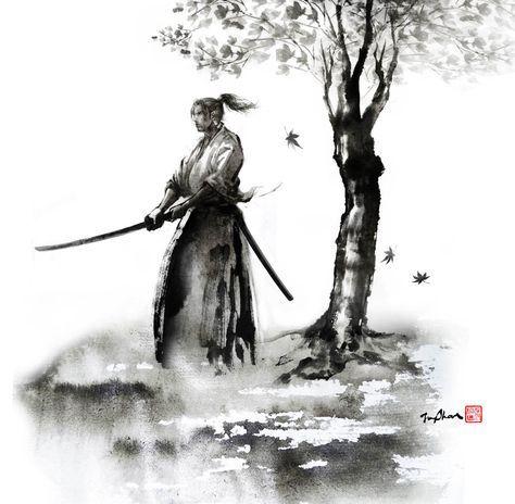 Extrêmement Les 25 meilleures idées de la catégorie Tatouage samourai sur  RR29