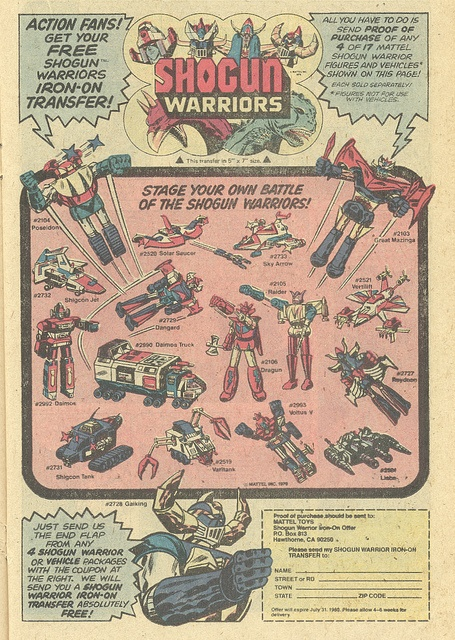 Shogun Warriors toys (1979) by Paxton Holley, via Flickr