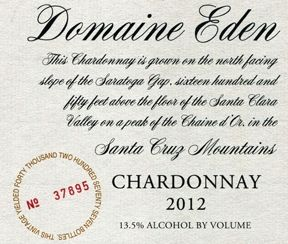 #16 Top 100 Wines 2015 - 94 Points - Domaine Eden 2012 Chardonnay (Santa Cruz Mountains) | Wine Enthusiast Magazine
